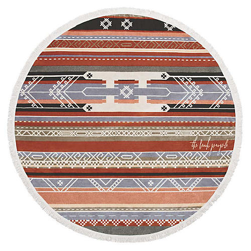 Bedouin Beach Towel, Red/Multi