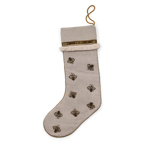 Bee Stocking, Tan/Multi