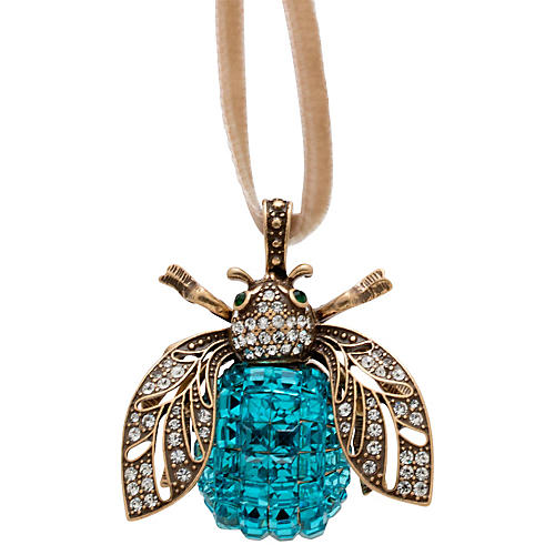 Sparkle Bee Ornament, Turquoise