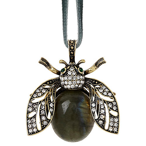 Sparkle Bee Ornament, Labradorite