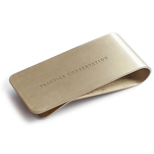 Practice Conversation Steel Money Clip, Gold