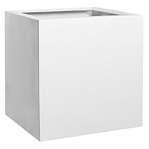 "20"" Layne Planter, White"