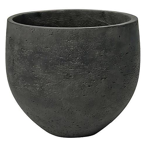 Colton Round Planter, Charcoal