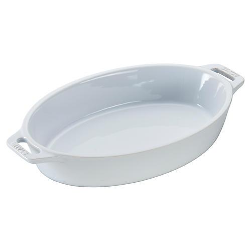 Oval Baker, White