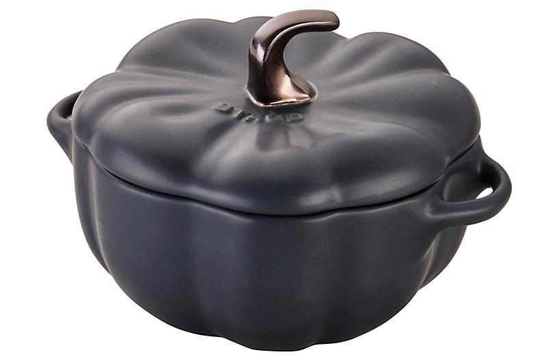 16-Oz Petite Pumpkin Cocotte, Matte Black