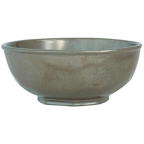 Stoneware Bowl, Pewter