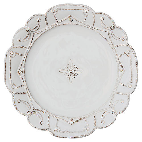Jardins du Monde Dinner Plate, White