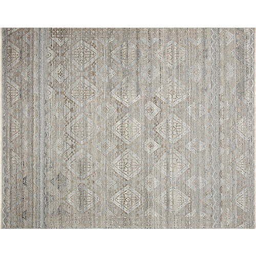 Sentry Hand-Knotted Rug, Granite/Sand