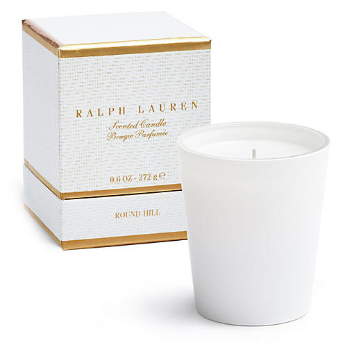 Round Hill Single-Wick Candle, Warm Musk