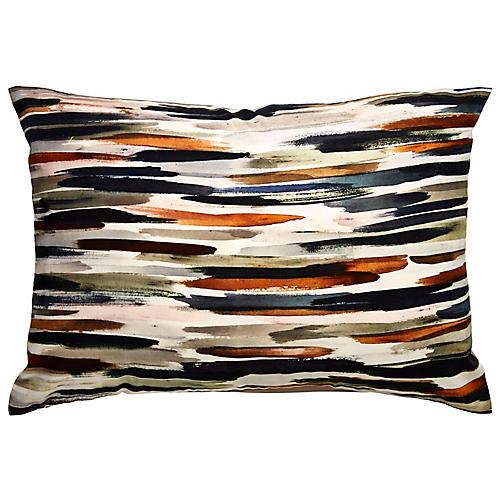Ola 14x20 Lumbar Pillow, Blue/Orange