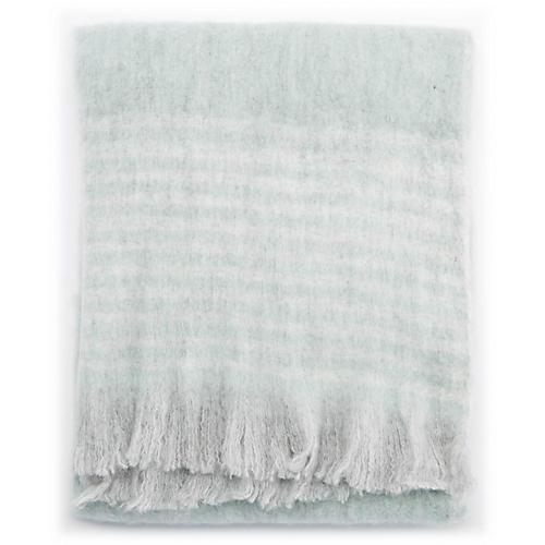 Witth Throw, Light Blue/Gray