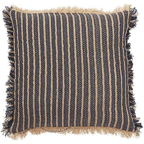 Yinla 18x18 Pillow, Navy/Beige