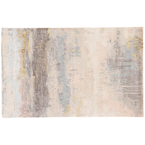 Hartfield Rug, Blush/Light Blue