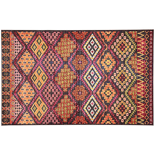 Roko Rug, Dark Blue/Multi