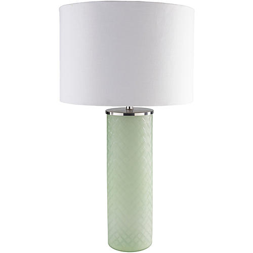 Soffer Table Lamp, Frosted Seafoam
