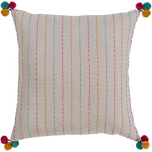 Maple 20x20 Pillow, Cream/Multi