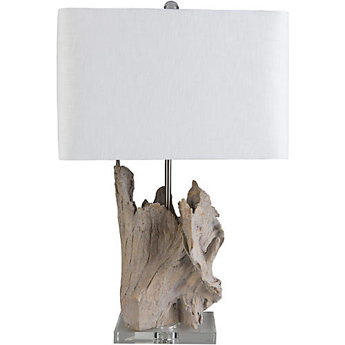 Ramsey Crystal Table Lamp, Pale Brown