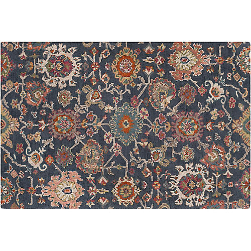 Bell Rug, Charcoal/Multi