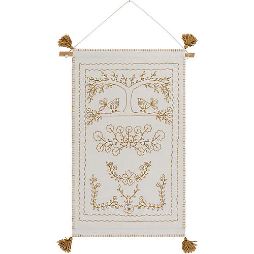 Frayer Wall Hanging, White