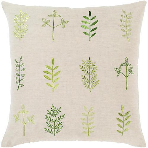 Meadow Pillow, Green/Beige
