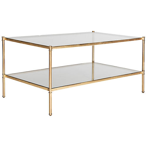 Ruby Coffee Table, Gold