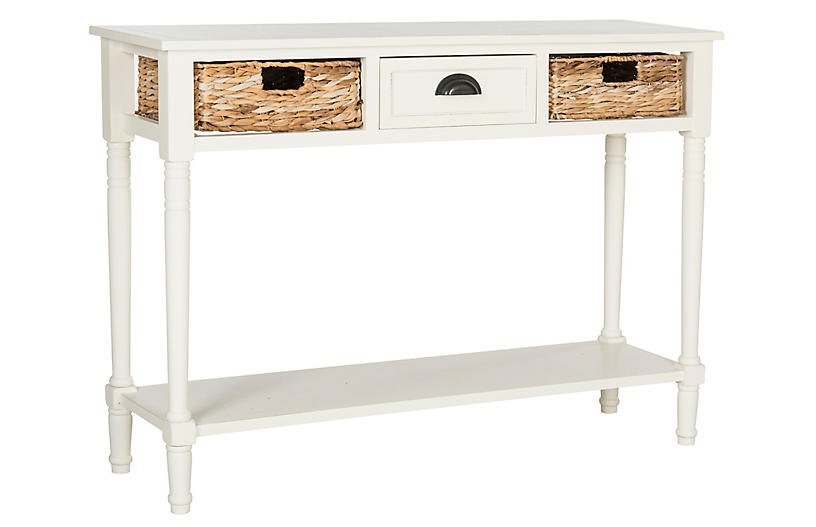 Christa Console - Distressed White