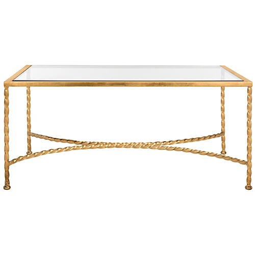 Asst. of 3 Grafton Coffee Table, Gold