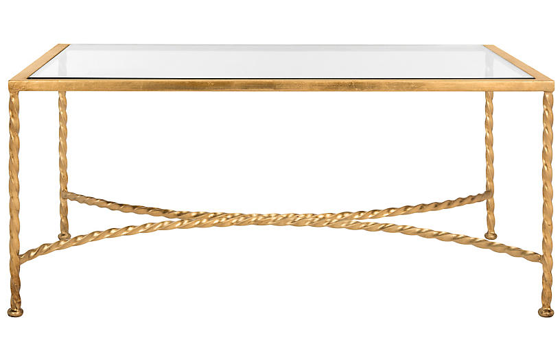 Cayla Coffee Table, Gold