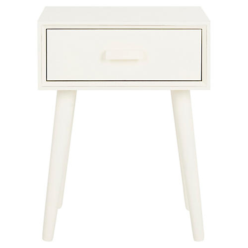 Lyle Nightstand, Antiqued White
