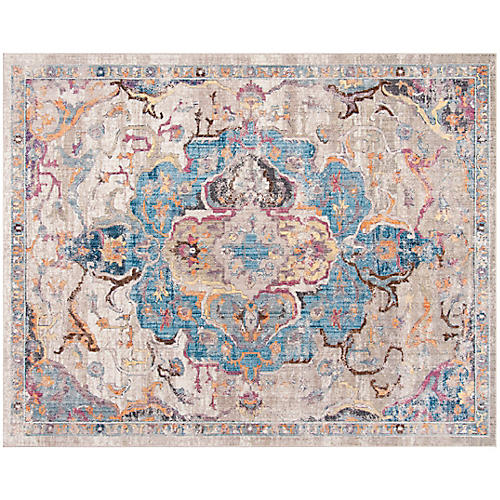Kohlepp Rug, Blue/Light Gray