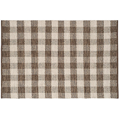Anno Kilim, Light Gray/Brown