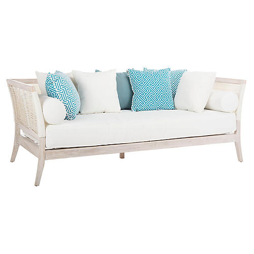 Avila Daybed, Whitewash/Cream