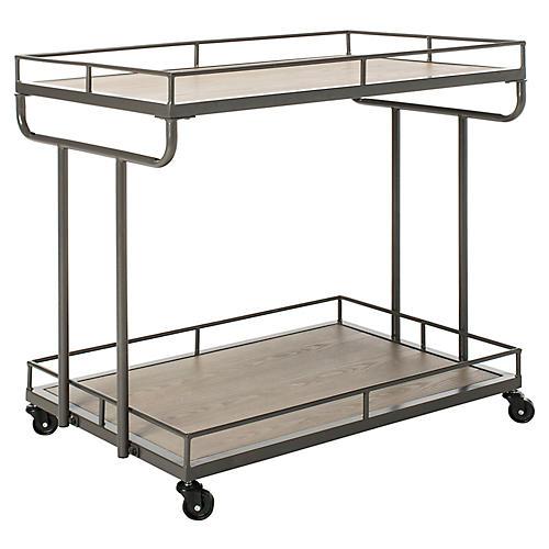 Dawson 2-Tier Bar Cart, Gunmetal