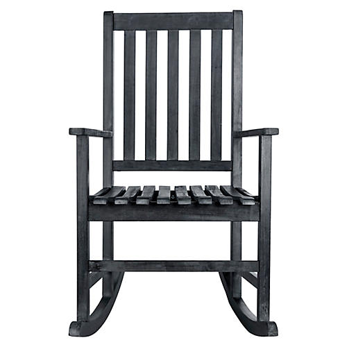 Barstow Rocking Chair, Dark Slate Gray