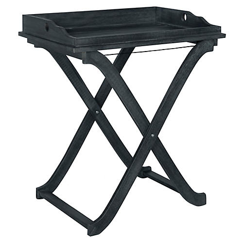 Covina Tray Side Table, Dark Slate Gray