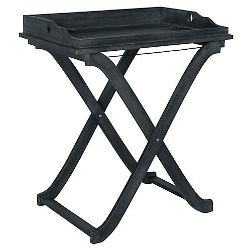 Covina Tray Side Table, Dark Slate Gray