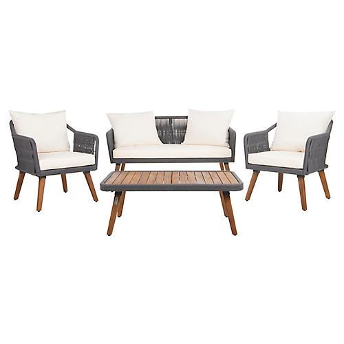 Morro 4-Pc Lounge Set, Natural