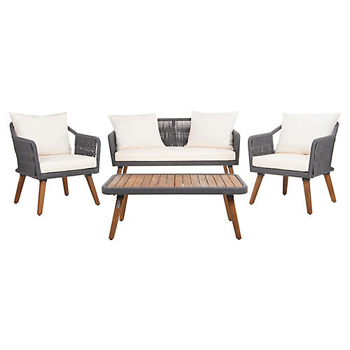 Morro 4-Pc Lounge Set, Natural