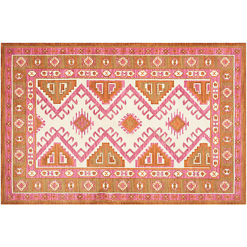 Taylor Kids' Rug, Carnation/Straw