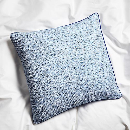 Boa Lace 22x22 Pillow, Cobalt