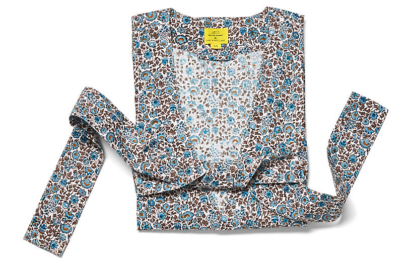 Keya Short Cotton Kimono, Sky