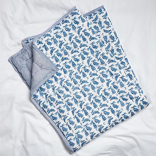 Batik Baby Quilt, Navy