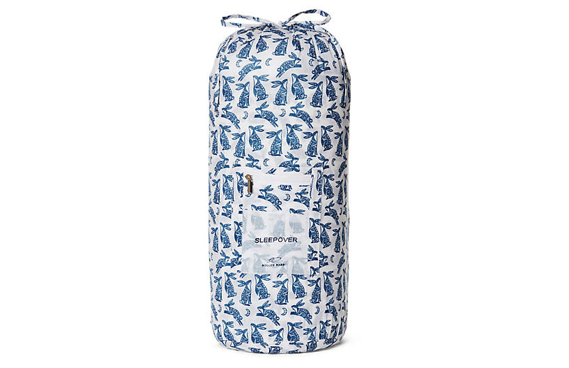 Batik Bunny Sleeping Bag, Navy