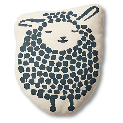 Imani Woolie Pillow, Blue