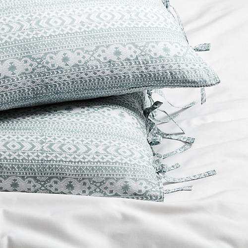 S/2 Lister Pillowcases, Sage