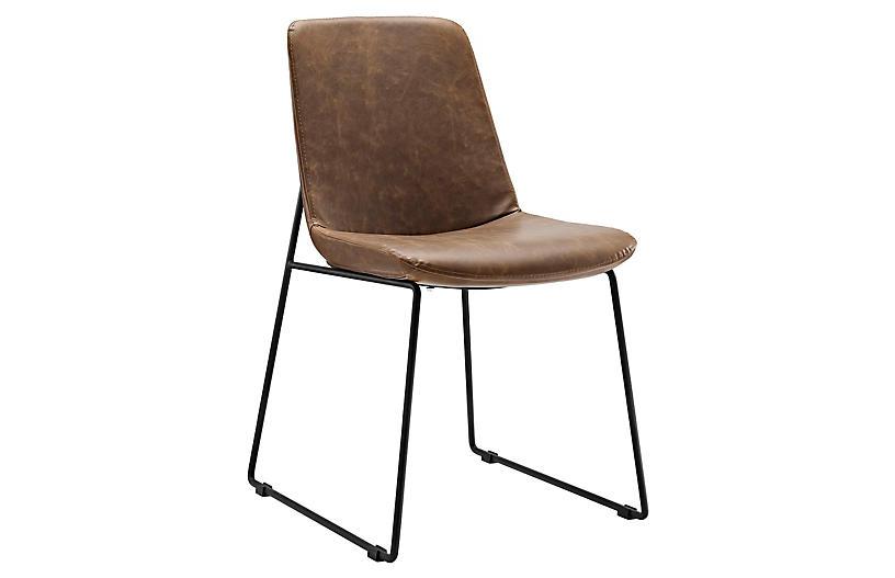 Danon Side Chair, Brown