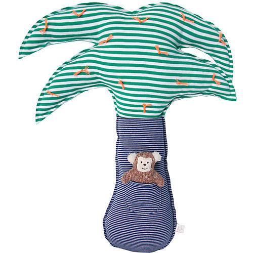 Monkey Palm Plush Toy Set, Green/Multi