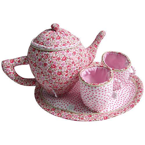 Bossy Plush Tea Set, Pink