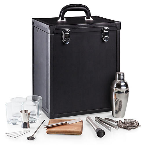 Hamilton Cocktail Set, Black/Multi