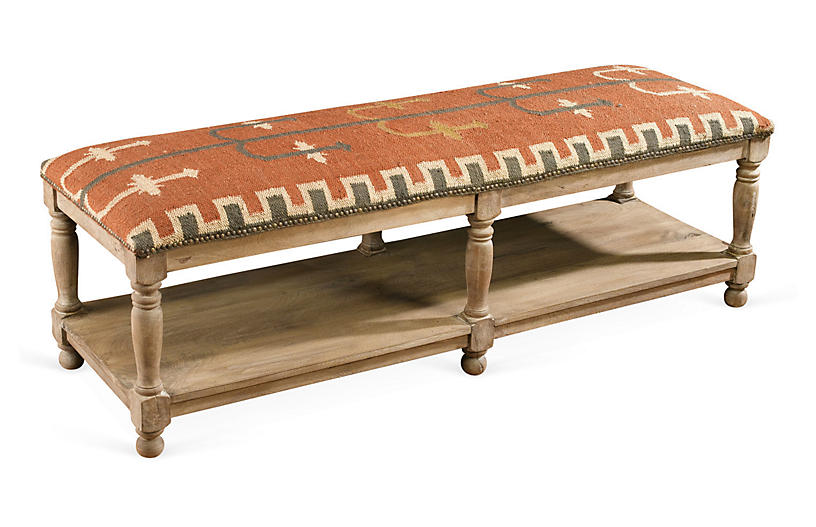 Tremendous Mindy 2 Tier Storage Bench Kilim Standard Benches Andrewgaddart Wooden Chair Designs For Living Room Andrewgaddartcom